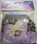 10 x Silver Wedding Favour Organza Bags. 100mm x 75mm.